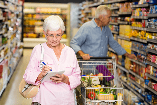 Healthy Grocery Shopping List for the Elderly in Waterloo, ON